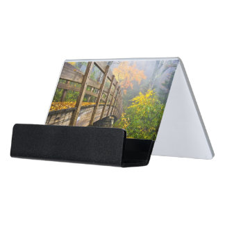 Autumn Appalachian Hiking Trail Desk Business Card Holder