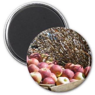 Autumn Apples 2 Inch Round Magnet
