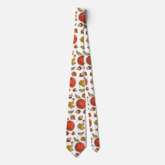 Autumn Apples Acorns and Leaves Tie