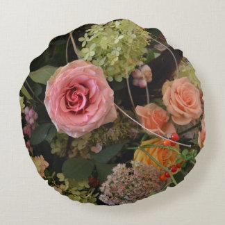 Autumn Arrangement Flower Pillow Round Pillow