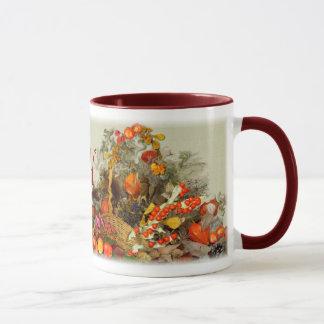 AUTUMN ARRANGEMENT ~ Monogram Ringer Mug