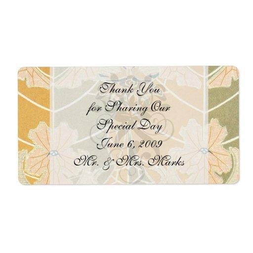 autumn art nouveau floral art custom shipping label