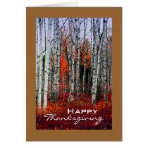 Autumn Aspen Grove, Thanksgiving Card