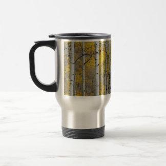 Autumn Aspens 15 Oz Stainless Steel Travel Mug