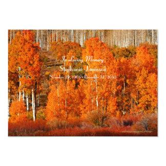 Autumn Aspens Celebration of Life Invitation