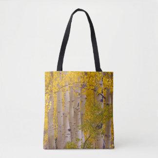 Autumn aspens in Kebler Pass in Colorado Tote Bag