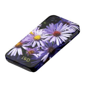 Autumn Asters Monogram Case-Mate iPhone 4 Case
