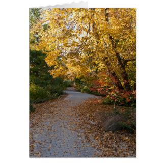 Autumn at Botanical Garden in Madison Card