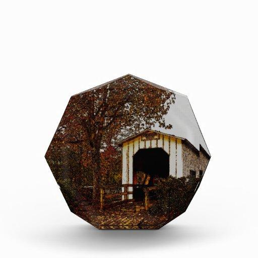 Autumn at Centennial Covered Bridge Acrylic Award