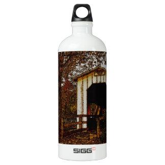 Autumn at Centennial Covered Bridge Aluminum Water Bottle