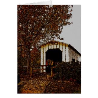 Autumn at Centennial Covered Bridge Card