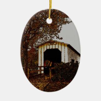 Autumn at Centennial Covered Bridge Ornament