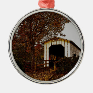 Autumn at Centennial Covered Bridge Christmas Ornaments
