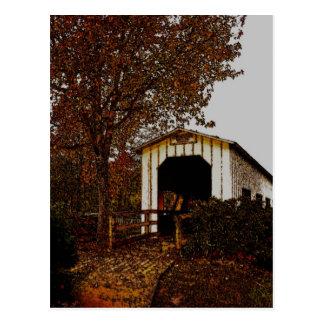 Autumn at Centennial Covered Bridge Postcard