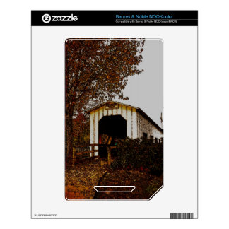 Autumn at Centennial Covered Bridge NOOK Color Decal