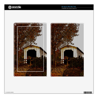 Autumn at Centennial Covered Bridge Kindle Fire Decals