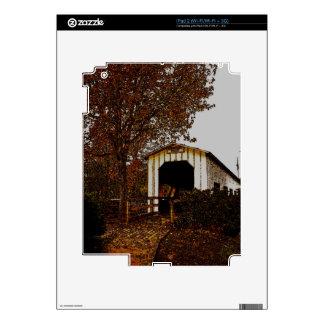 Autumn at Centennial Covered Bridge iPad 2 Decal