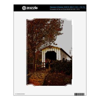 Autumn at Centennial Covered Bridge Skin For NOOK