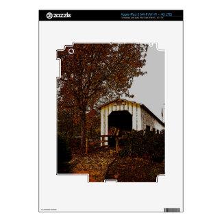 Autumn at Centennial Covered Bridge Skins For iPad 3