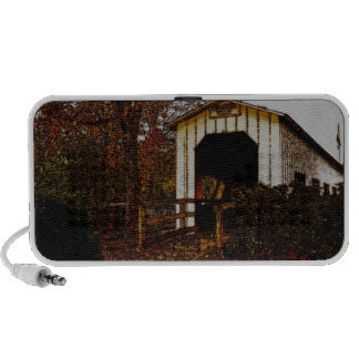 Autumn at Centennial Covered Bridge Portable Speakers