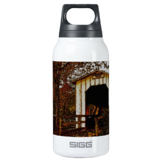 Autumn at Centennial Covered Bridge Thermos Bottle