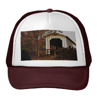 Autumn at Centennial Covered Bridge Trucker Hat
