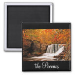 Autumn at Factory Falls 2 Inch Square Magnet