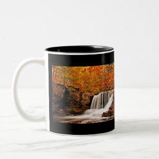Autumn at Factory Falls Two-Tone Coffee Mug