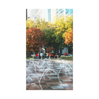 Autumn at Houston Discovery Green Canvas Print