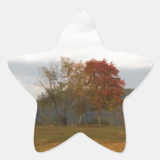 Autumn at Lake Arrowhead. Star Sticker