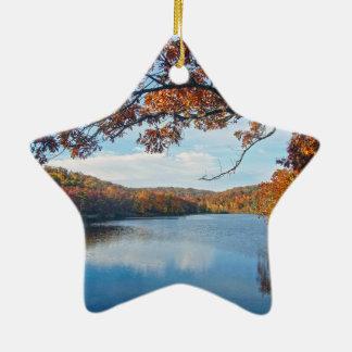 Autumn at Lake Killarney Ceramic Ornament