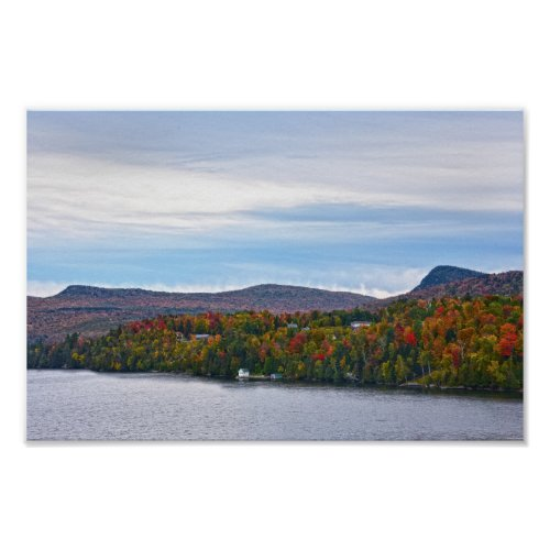 Autumn at Lake Willoughby, Vermont Poster