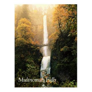 Autumn at Multnomah Falls Postcard