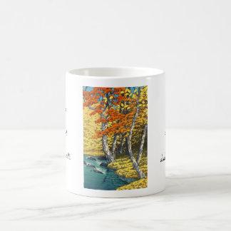 Autumn at Oirase Hasui Kawase scenery shin hanga Classic White Coffee Mug