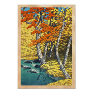 Autumn at Oirase Hasui Kawase scenery shin hanga Poster