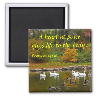 Autumn at the Duck Pond Magnet