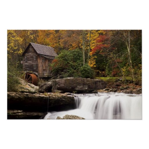 Autumn  At The Grist Mill  Print