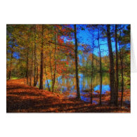 Autumn at the Lake Cards