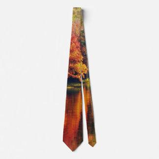 Autumn at the Lake Neck Tie