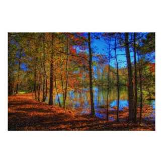 Autumn at the Lake Poster