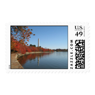 Autumn at the Tidal Basin in DC Postage Stamps