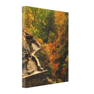 Autumn at Treman State Park Stretched Canvas Prints