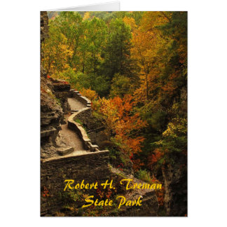 Autumn at Treman State Park Greeting Card