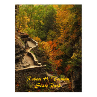 Autumn at Treman State Park Post Card