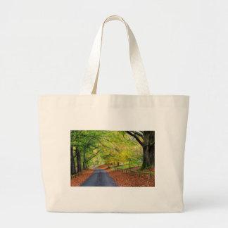 Autumn Avenue Canvas Bag