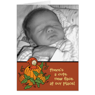 Autumn Baby Birth Announcement (Boy or Girl)