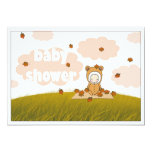 Autumn Baby in Falling Leaves Baby Shower Invite