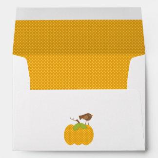 Autumn Baby Shower Envelope