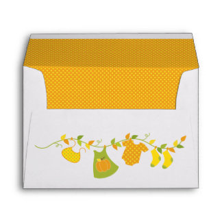 fall baby shower printed mailing envelopes zazzle