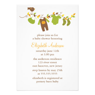 Autumn Baby Shower Personalized Invitation